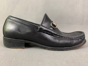 GUCCI Ladies Black Leather HorseBit Loafers / Shoes Size EU 36 C - UK 3
