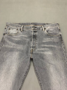 "LEVI STRAUSS &Co Mens LEVI'S Grey Denim 501 JEANS Size Waist 38""  Leg 31"" LEVIS"