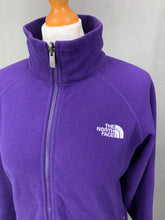 Load image into Gallery viewer, THE NORTH FACE Ladies Purple Zip Fasten FLEECE JACKET Size Medium M