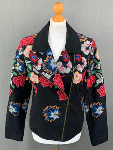 DESIGUAL Ladies Beautifully Embroidered COAT / JACKET - Size 42 - UK 14