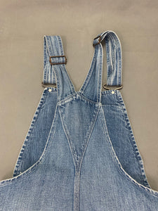 RALPH LAUREN Ladies Blue Denim DUNGAREES - Size XS - Extra Small