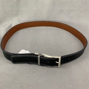 "New TED BAKER London BREAM Black Leather BELT - Size 38"" Waist"