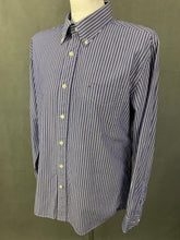 Load image into Gallery viewer, TOMMY HILFIGER Mens Blue Striped SHIRT - Size Large L