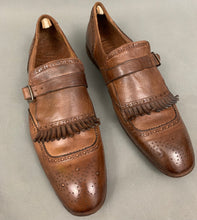 Load image into Gallery viewer, OFFICINE CREATIVE Mens Brown Buckled Brogues / Shoes Size EU 43 - UK 9