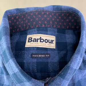 BARBOUR Mens Blue Checked CARSEN Flannel SHIRT - Size XXL / 2XL