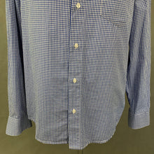 Load image into Gallery viewer, ARMANI JEANS Mens Blue Checked Long Sleeved SHIRT - Size L Large