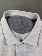Load image into Gallery viewer, BRUNELLO CUCINELLI Mens Grey Slim Fit POLO SHIRT Size Small S
