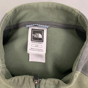 THE NORTH FACE Mens TKA100 Green FLEECE TOP - Size L LARGE
