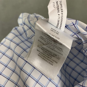 "RALPH LAUREN Mens Blue Check SHIRT Size 16.5"" Collar - XL"