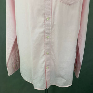GANT Mens THE BROADCLOTH PINSTRIPE Pink SHIRT - Size Large - L