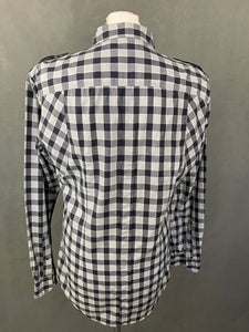 "DOLCE & GABBANA Mens Grey Checked SHIRT Size 16.5"" Collar - XL"
