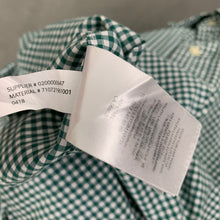 Load image into Gallery viewer, RALPH LAUREN Mens Green Check Pattern SHIRT Size L - Large