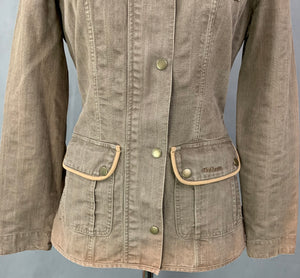 BARBOUR Ladies NATURAL WEATHERED JACKET / COAT - Size UK 8