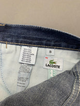 "Load image into Gallery viewer, LACOSTE Mens Blue Denim Tapered Leg JEANS Size IT 58 - UK 40"" - Leg 29"""