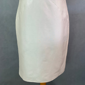 ARMANI COLLEZIONI Ladies Silk & Cotton Champagne Shift DRESS Size IT 46 - UK 14