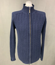 Load image into Gallery viewer, ROCHAS Paris Mens Navy Blue Zip Fasten Cardigan - Size Medium M