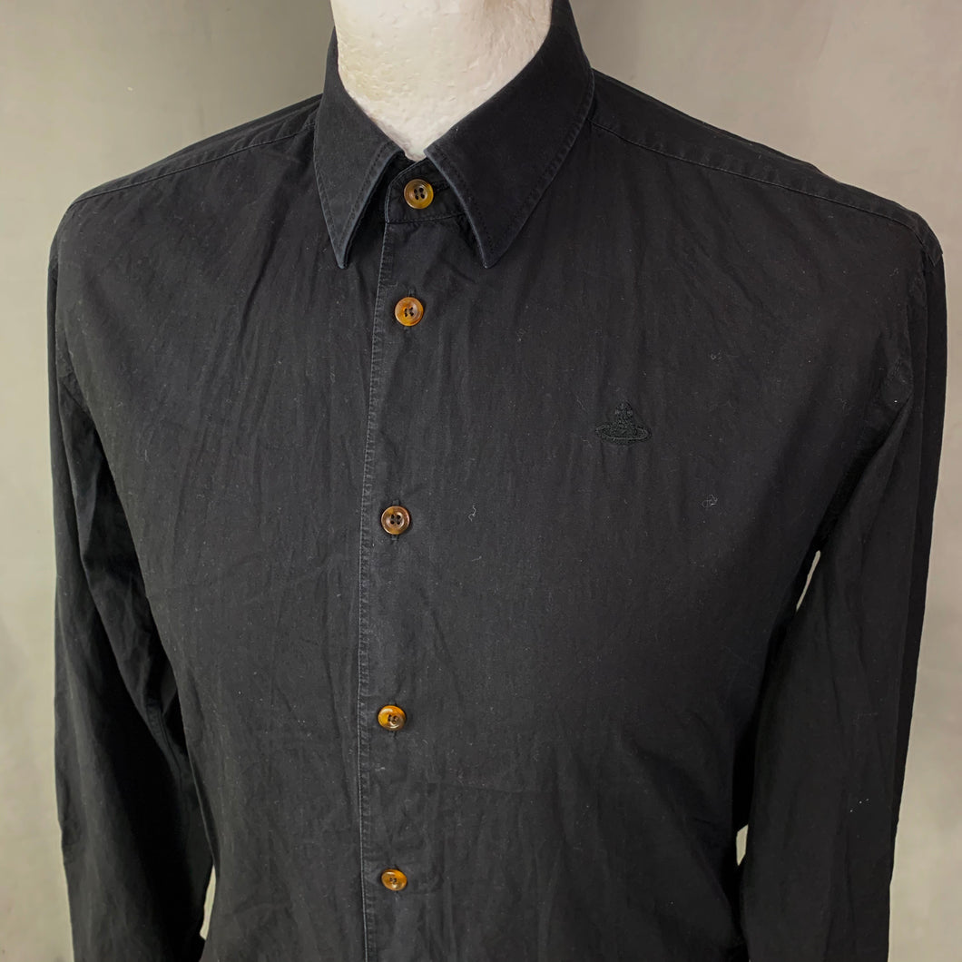 VIVIENNE WESTWOOD MAN Black SHIRT Size It 46 - S Small - 36