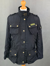 Load image into Gallery viewer, BARBOUR Ladies Black RAINBOW INTERNATIONAL GOLD JACKET / COAT - Size UK 10