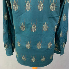 Load image into Gallery viewer, PAUL SMITH Ladies SOHO FIT BEETLE GRAPHIC BLOUSE / SHIRT Size Small S UK 10