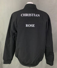 Load image into Gallery viewer, New CHRISTIAN ROSE Mens Black BOMBER JACKET / COAT Size 2XL XXL BNWT