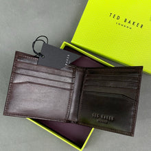 Load image into Gallery viewer, New TED BAKER Mens FHILS Chocolate Brown Leather WALLET