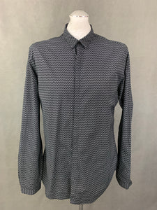 THE KOOPLES Mens Fitted Black SHIRT Size Extra Large XL
