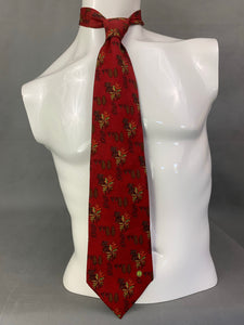 DUNHILL Mens 100% SILK Forest Themed TIE - Made in Italy