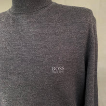 Load image into Gallery viewer, HUGO BOSS Mens EXTRAFINE MERINO Grey Roll Neck JUMPER Size XL Extra Large