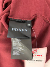Load image into Gallery viewer, PRADA Milano Mens Purple Long Sleeved POLO SHIRT Size M Medium