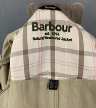 Load image into Gallery viewer, BARBOUR Ladies NATURAL WEATHERED JACKET / COAT - Size UK 8