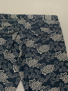 "GANT RUGGER Mens Floral Pattern TROUSERS Size IT 48 - Waist 33"" - Leg 31"""