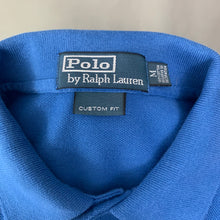 Load image into Gallery viewer, POLO RALPH LAUREN Mens Blue Long Sleeved POLO SHIRT Size Medium M