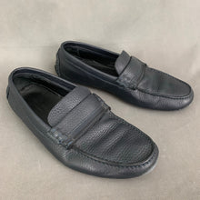 Load image into Gallery viewer, ERMENEGILDO ZEGNA Mens Blue Leather LOAFERS / DRIVING SHOES Size 8 EEE