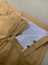 "Load image into Gallery viewer, CAROLINA HERRERA Mens Brown Tapered Leg TROUSERS Waist 40"" - Leg 34"""