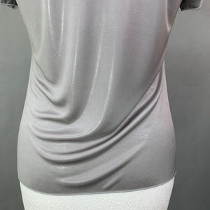 ARMANI COLLEZIONI Ladies Grey Shimmering T-Shirt - Size IT 40 - UK 8 TShirt TEE