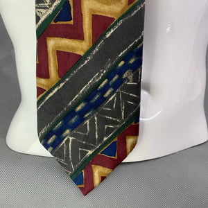 HUGO BOSS Mens Vintage Patterned TIE - Made in Italy