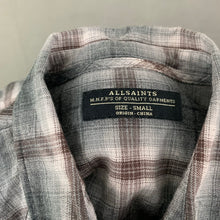 Load image into Gallery viewer, ALLSAINTS Mens PLATEAU LS SHIRT - Size Small S