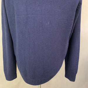 GANT Mens Alpaca Blend Navy Blue JUMPER - Size XL - Extra Large