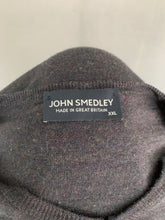 Load image into Gallery viewer, JOHN SMEDLEY Mens Grey Extrafine MERINO WOOL V-Neck JUMPER Size XXL 2XL