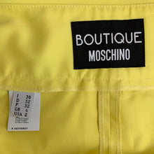 Load image into Gallery viewer, BOUTIQUE MOSCHINO Ladies YELLOW Cotton TROUSERS - Size IT 36 - UK 4