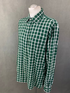 TOMMY HILFIGER Mens Green Checked SHIRT - Size M Medium