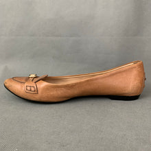 Load image into Gallery viewer, TOD'S Ladies Brown Leather Flat Pointed Shoes - Size 38.5 - UK 5.5 - TODS