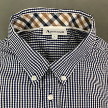 Load image into Gallery viewer, AQUASCUTUM Mens Blue Check SHIRT with VICUNA CLUB Collar Size XL - Extra Large