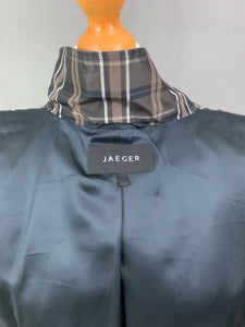 JAEGER Ladies Check Pattern COAT / MAC JACKET Size M Medium