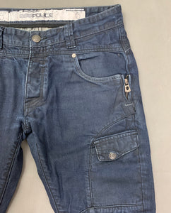"883 POLICE Mens HAVANA Blue Denim Regular Fit JEANS Size Waist 32"" - Leg 30"""