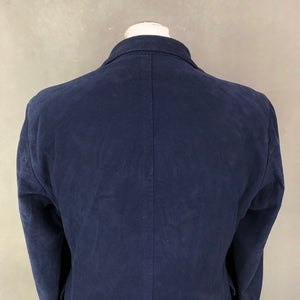 "JOSEPH HOMME Mens Navy Cotton BLAZER / SPORTS JACKET - Size IT 48 / UK 38"" Chest - XL"
