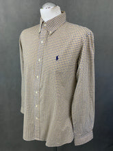 Load image into Gallery viewer, RALPH LAUREN Mens Yellow Check Pattern SHIRT Size M Medium