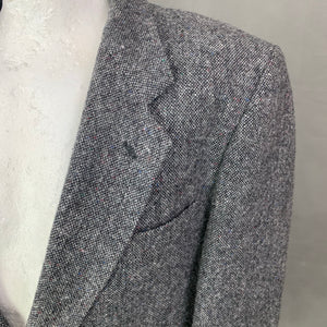 "DUNN &Co DONEGAL TWEED Mens Grey BLAZER / JACKET Size 42R - 42"" Chest"