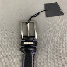 "Load image into Gallery viewer, New TED BAKER Black JOLLENT 100% Cow Leather BELT - Size 30"" Waist"