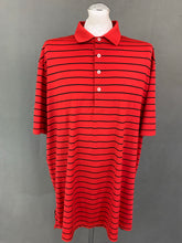 Load image into Gallery viewer, RLX RALPH LAUREN Mens Red Striped POLO SHIRT Size 2XL XXL